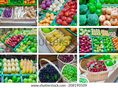 Mix Fresh vegetable  at a market picture - stock photo