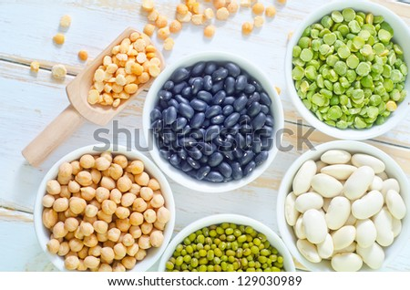 Mix from different beans - stock photo