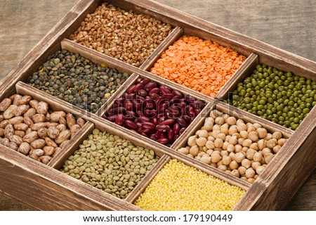 Mix from various beans,lentils and millet, buckwheat