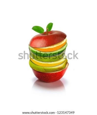 Mix fruits - stock photo