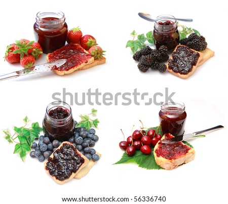 mix marmalade jam - stock photo