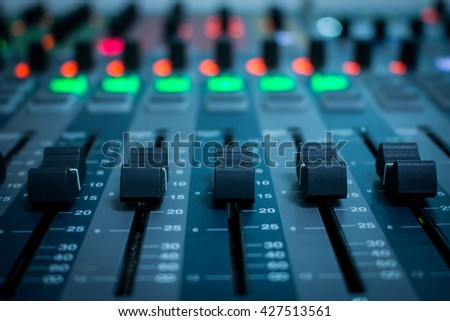 mix,mixer,frequency,Mixer,Control of high-quality audio and equalizer volume on the mixer. - stock photo