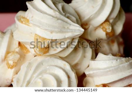 Mix Nut Meringues. - stock photo