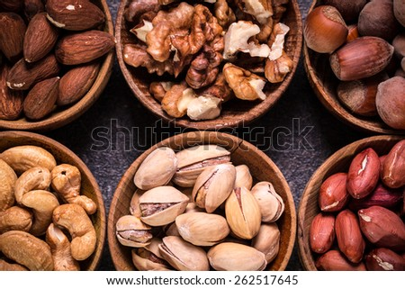 mix nuts - stock photo
