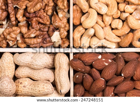 mix,nuts,seeds - stock photo
