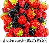 mix of berries - stock photo
