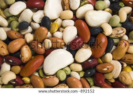 mix of Colorful beans background - stock photo