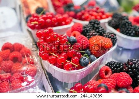 Mix of different berries - stock photo
