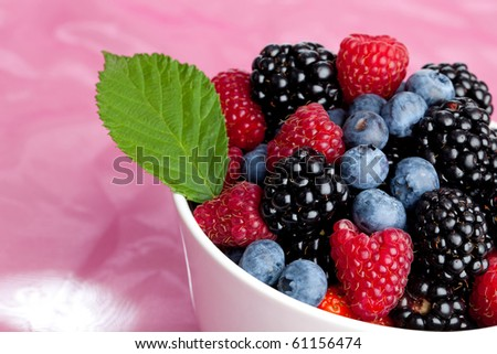 MIx of different berries... - stock photo