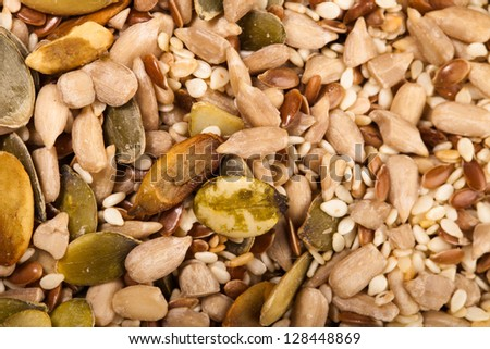mix of different seeds - stock photo