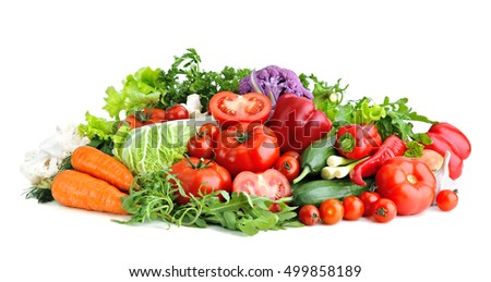 Mix of fresh vegetables.