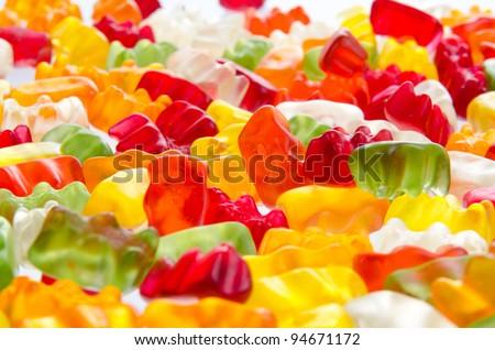 Mix of jelly teddies - stock photo