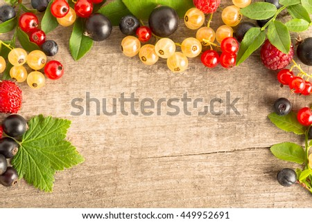 mix ripe berries collection set surface close up macro shot - stock photo