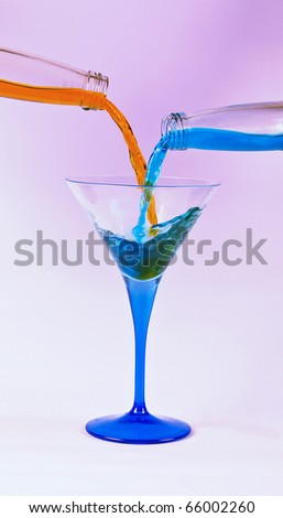Mix the Liquid - stock photo