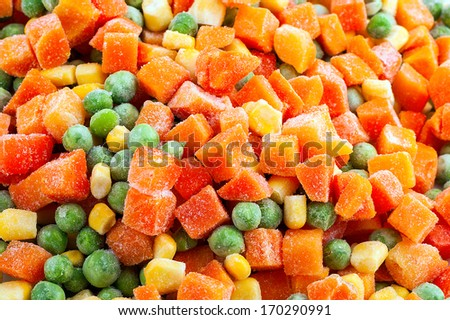mix vegetable carrot, green, pepper - vitamins product background horizontal - stock photo