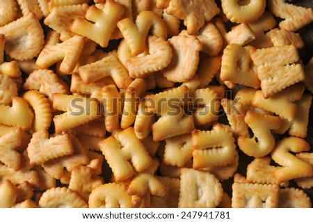 Mixed a lot of Cookies ABC - stock photo
