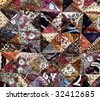 mixed Batik background - stock photo
