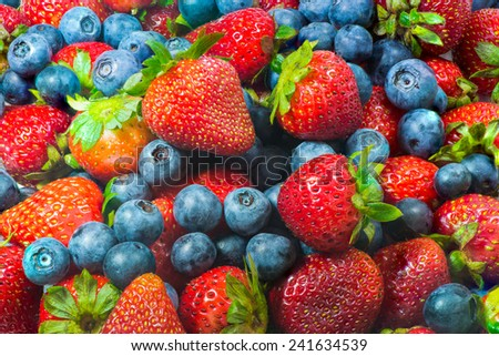 Mixed Berries, Background - stock photo