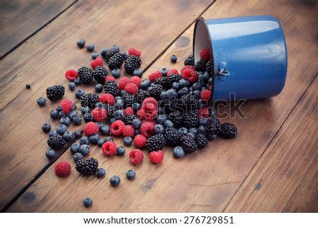 Mixed berry fruits - stock photo