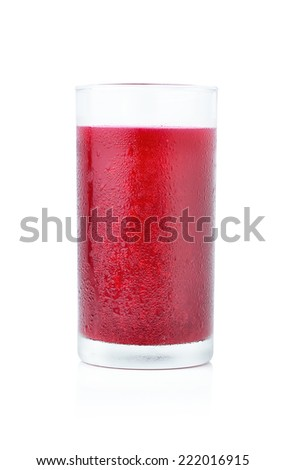 Mixed Berry Juice on white background