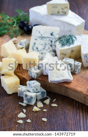 mixed cheese - stock photo