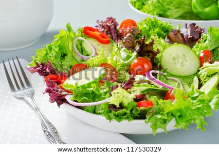 Mixed chef's salad. - stock photo