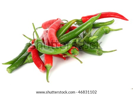 mixed chilli pile