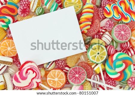 Mixed colorful fruit bonbon close up - stock photo