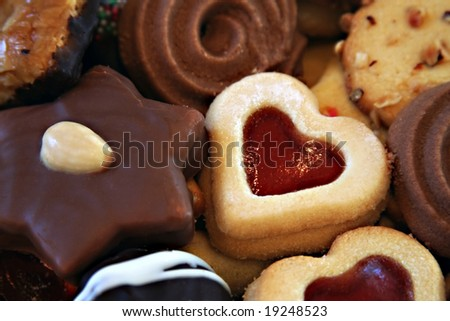 mixed cookies - stock photo