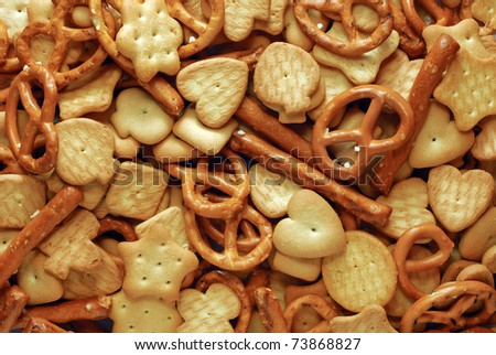mixed crackers - stock photo