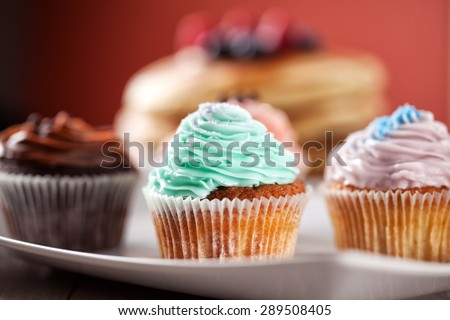 Mixed Cupcake - stock photo