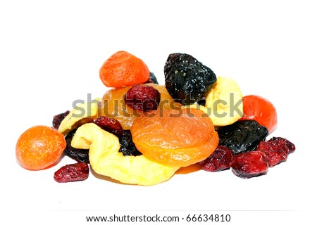 Mixed dried fruits - stock photo