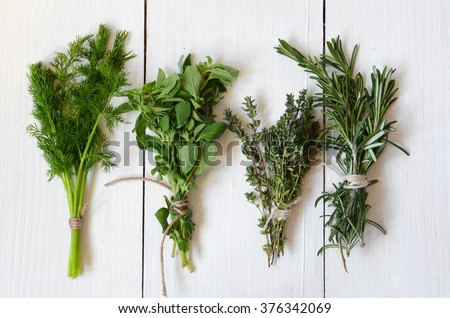 Mixed fresh herbs, Thyme,Dill, Rosemary and Oregano