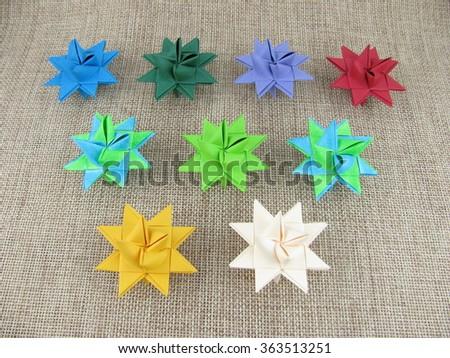 Mixed Froebel Stars - stock photo