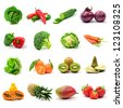 Mixed Fruit and Vegetables - stock photo