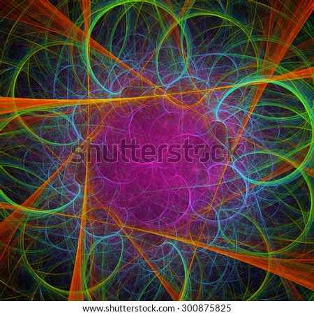Mixed Geometry abstract illustration - stock photo