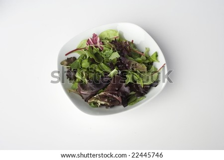 Mixed Greens in Bowl - stock photo