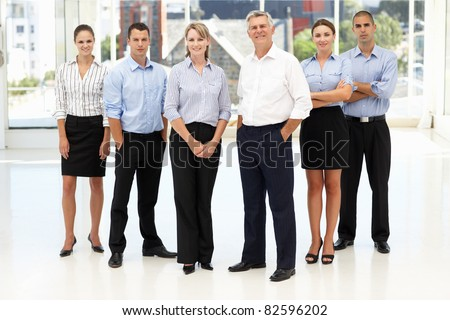 Mixed group of business people - stock photo