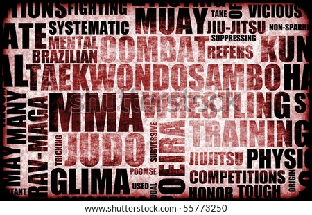 Mixed Martial Arts MMA as a Fighting Style - stock photo