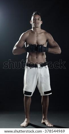 mixed martial arts power - stock photo