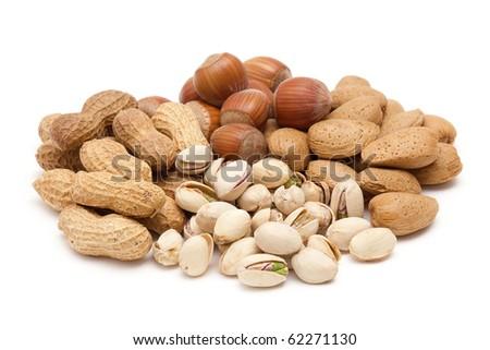 mixed nuts - stock photo