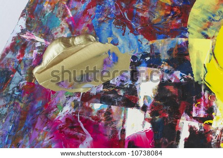 mixed oil colors, abstract background