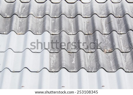 mixed old and new roof-tiles
