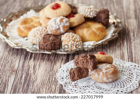 Mixed pastries - stock photo