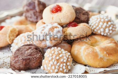 Mixed pastries - stock photo