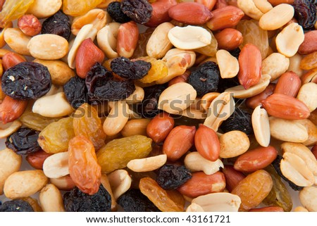 Mixed peanuts filled as a background