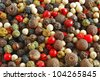 Mixed pepper - high detailed, whole background close-up - stock photo