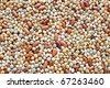 Mixed pulse - lentils, peas, soybeans, beans - background - stock photo