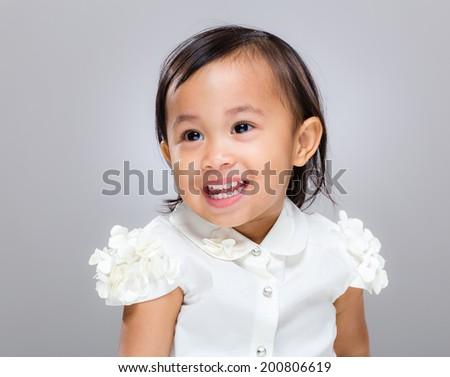 Mixed race happy girl - stock photo