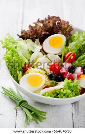 mixed salad - stock photo